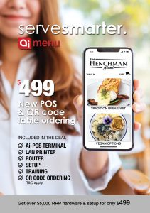 QR Code table ordering deal with new Ai-Menu POS